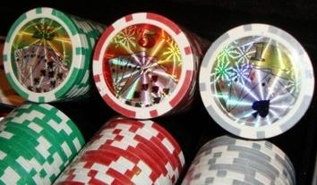 Покерный набор 100 фишек с номинал, кейс - фото 2