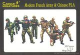 Современная французская армия с современной китайской армией